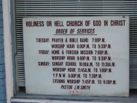 Holiness or Hell