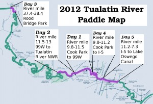 2012 Tualatin River Paddle Map